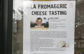 Enric Canut en La Fromagerie de Bloomsbury, Londres