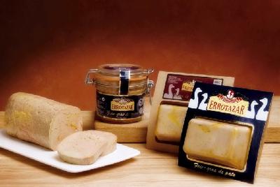 Foie gras entero y micuit de pato en bocal de vidrio